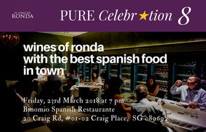 PURE Celebration Dinner 8 - Wines of Ronda at Binomio Spanish Restaurant - SOLD OUT!