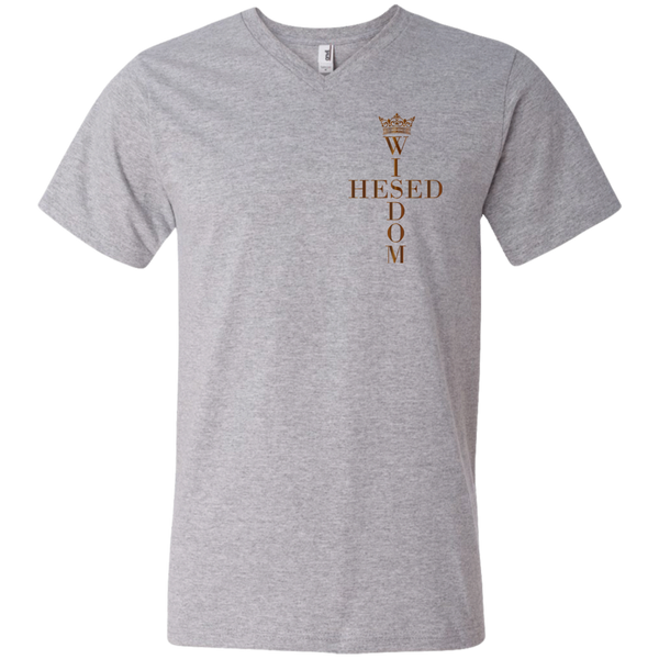 Limited Edition Hesed Wisdom Cross - Men's Printed V-Neck T-Shirt