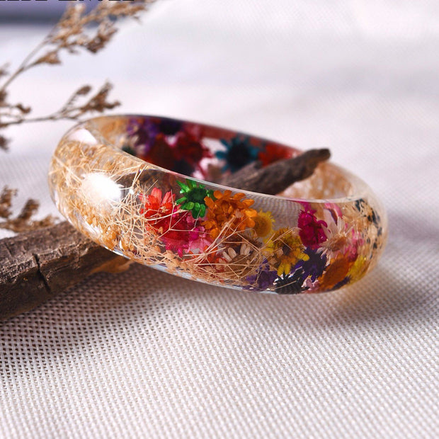 (CRAZY OFFER!) Lovely Starry Baby-breath Flowers Bracelet Bangles !