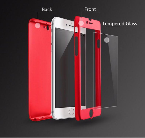 (Crazy Offer!) 360° Shockproof Slim Case for iPhone 5, 6/6s, 6/6s Plus, 7, 7 Plus