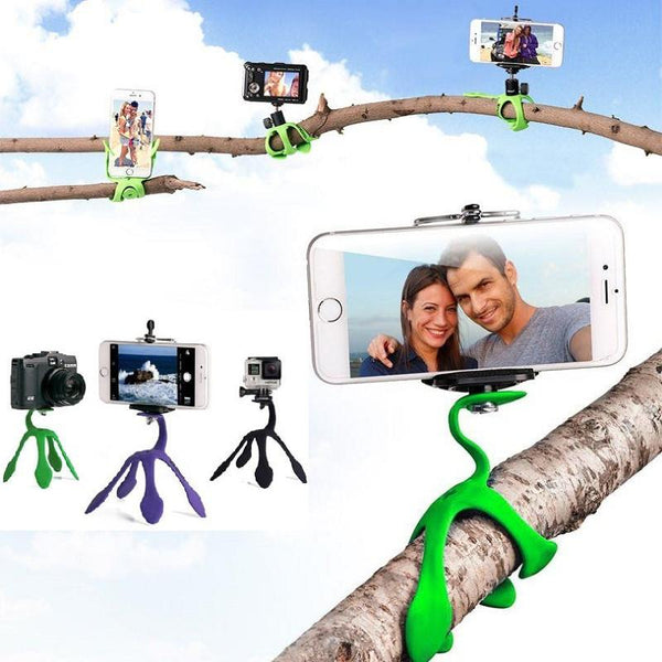 New! (CRAZY 50% OFFERS!) Flexi-Star Mini Tripod Stand Holder for Smart Phones / Camersa /  Gopro (Free Shipping!)