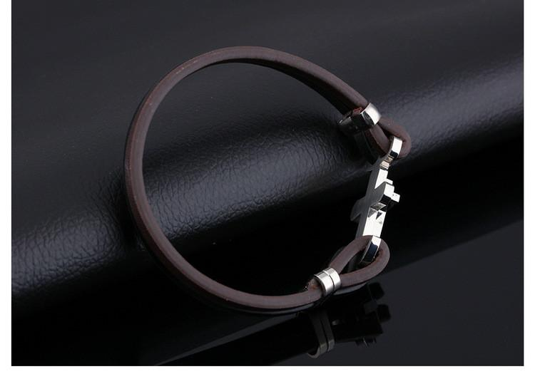 High Quality Stylish Stainless Steel Classic Cross Hook Bracelets