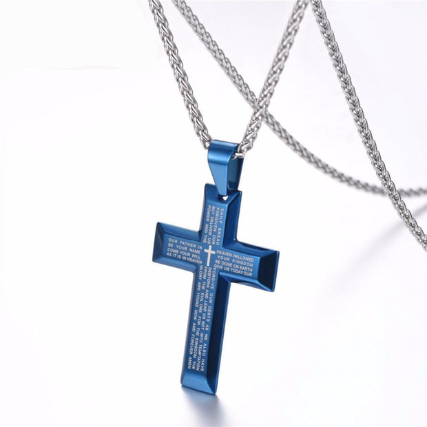'The Lord's Prayer' Cross Necklace
