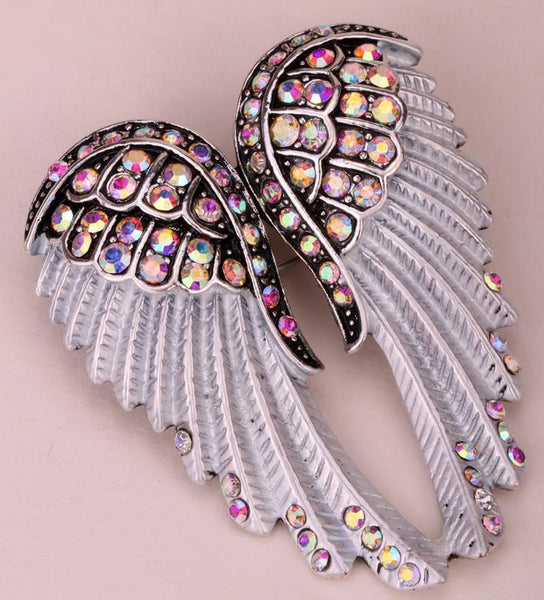 (CRAZY OFFER!) Angel wings brooch pin pendant