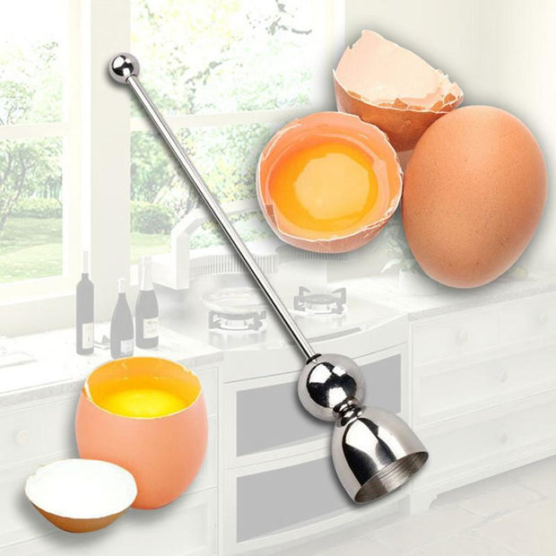 Awesome New Stainless Steel Raw Egg Shell Topper Cutter !