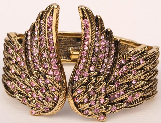 (CARZY OFFER!) Angel wings feather bracelet antique gold & silver