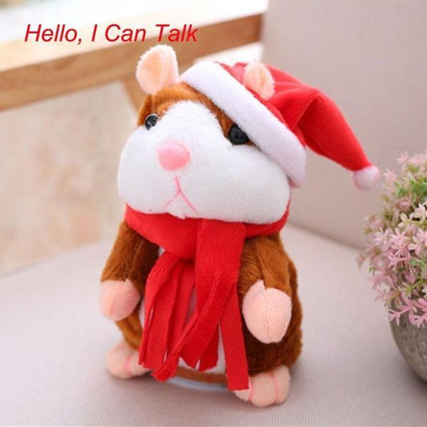 (Crazy Offer!) 2017 Hot Sale Christmas Style Cute Talking Hamster