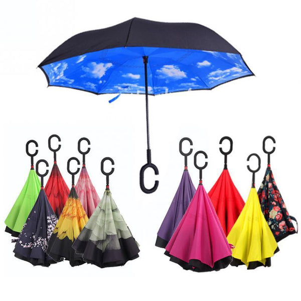 (Special Offer!) Windproof Designer Double Layer Hands-Free Self-Standing Umbrella (Free-Shipping)