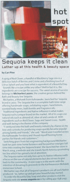 Sequoia featured in Spirit magazine