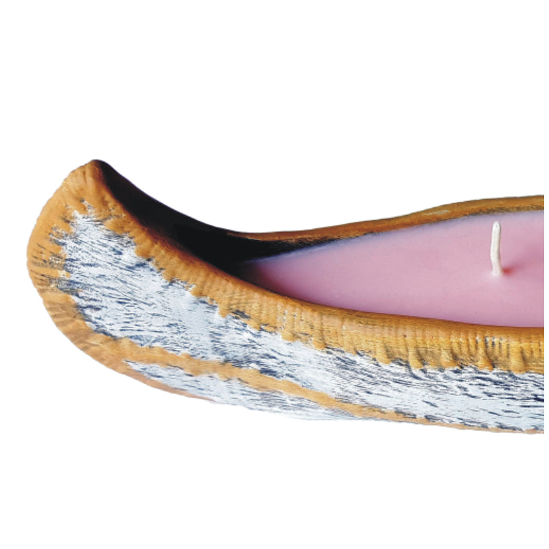 Large Red Clover Canoe Candle / Incense Burner
