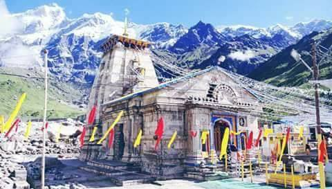 Laser show at Kedarnath temple