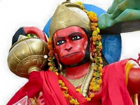 Why is sindoor (vermillion) applied to Lord Hanuman's body?