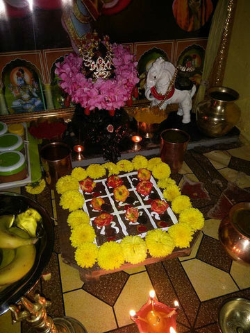 Puja of yantra