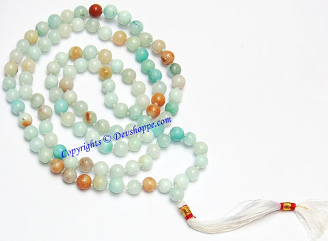 Amazonite mala of premium quality for Success and Abundance - Devshoppe