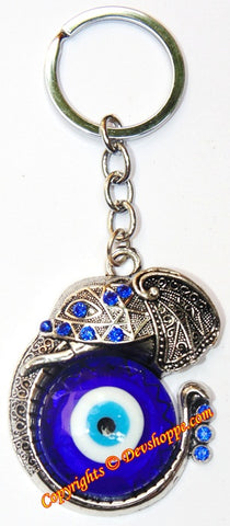 Beautiful Ganesha keychain with evil eye - Devshoppe