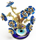 Feng Shui Evil Eye Tree for good luck and Prosperity - Blue colored