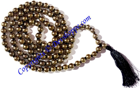 Golden Pyrite mala of premium quality