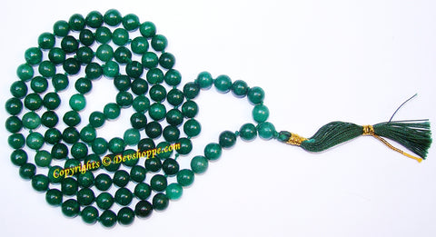 Dark Green Jade Prayer mala - Devshoppe