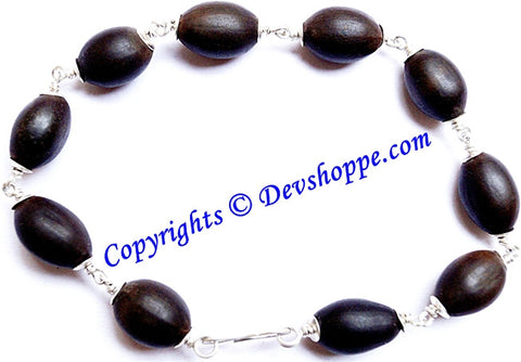Kamal Gatta (Lotus seed ) bracelet with Silver capping