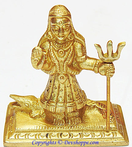 Khodiyar maa idol in brass