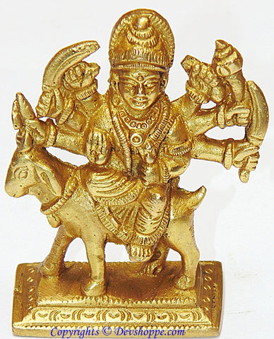 Meldi mata idol in brass