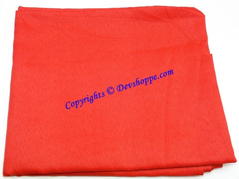 Red colored cloth for altar / puja - good quality , 1.25 mts - Devshoppe