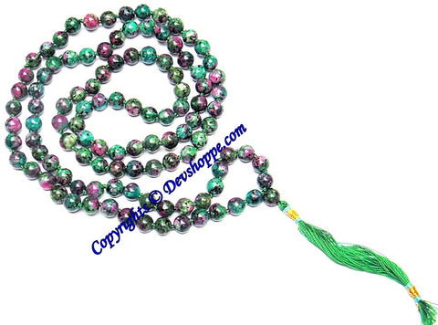 Ruby Zoisite beads mala of Premium quality