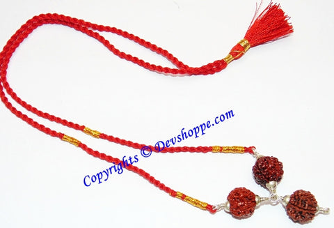 Saraswati Maa Rudraksha Pendant for Good Results in Studies and Knowledge - Devshoppe