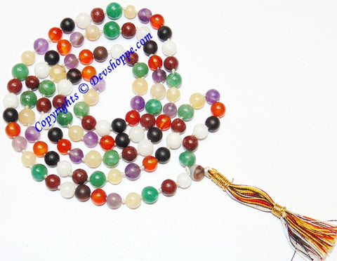 Dynamic Chakra prayer beads mala for balancing the body's chakras