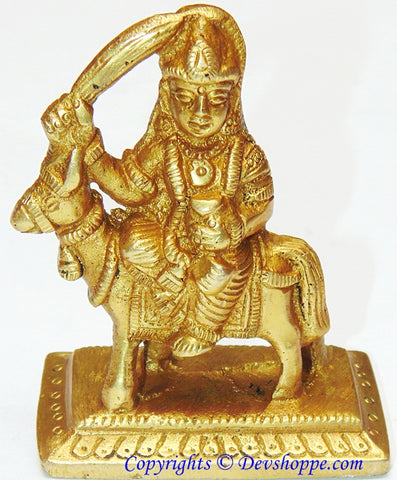 Shitala (Sheetala) mata idol in brass