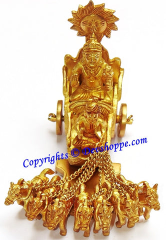 Sun god ( Surya dev ) idol in brass - Devshoppe