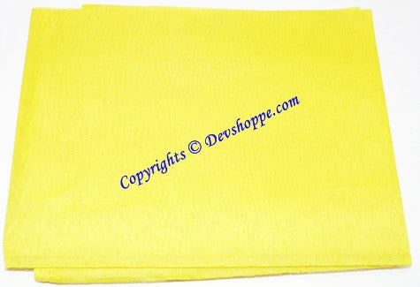 Yellow color cloth for altar/puja - Normal quality , 1.25 mts
