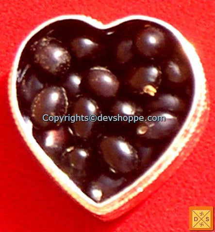 Black Chirmi beads in silver box - Devshoppe