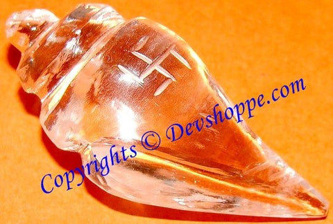 Crystal Shankha for Wealth , Prosperity , Good luck and removal of negativity - Devshoppe