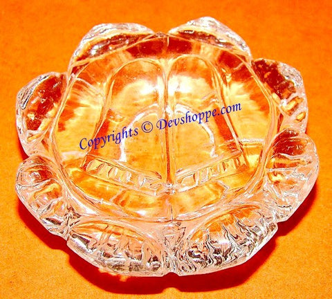 Lotus feet of Sri Rama in Crystal for happiness and harmony at home - Devshoppe