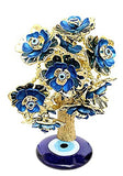 Feng Shui Evil Eye Tree for good luck and Prosperity - Blue colored - Devshoppe