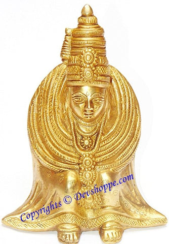 Goddess Tulja Bhavani idol in brass - Devshoppe - 1