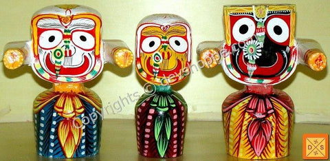 Idols of Lord Jagannath, Balabhadra and Subhadra - Devshoppe