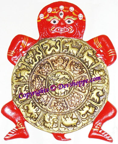 Kaalchakra (Kaal Chakra) - Astrlogical Wheel of Buddhism (Red) - Devshoppe