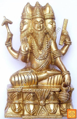 Lord Brahma brass idol - Rare and hard to find - Devshoppe