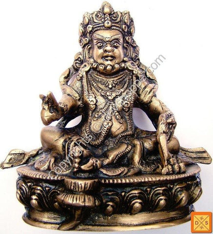 Lord Kuber idol in Brass with antique finish - Devshoppe
