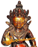 Lord Kuber (Kubera) hand painted idol (Statue) in brass - Devshoppe - 2