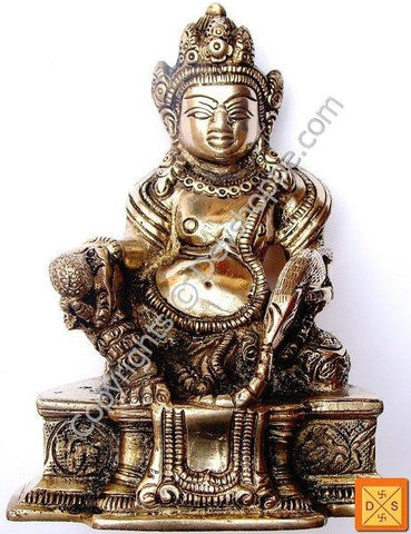 Lord Kubera idol in mixed metal alloy - Devshoppe