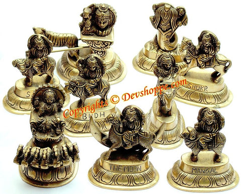 Navagraha idol set ~ Idols of all nine planets - Devshoppe