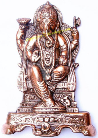 Ganesha in sitting pose wall hanging - Devshoppe
