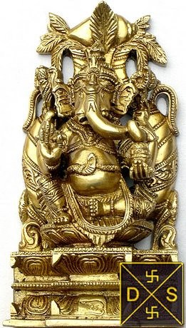 Lord Ganesha idol with kalash on back - Devshoppe