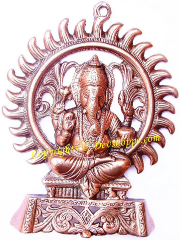 Lord Ganesha in sitting pose wall hanging - Devshoppe