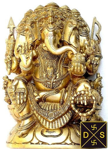 Panchmukha ( five faced ) Lord Ganesha idol - Devshoppe