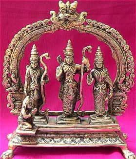 Ram Darbar idol in Mixed metal alloy - Devshoppe
