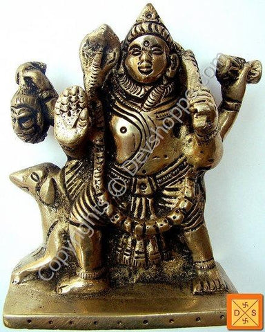 Sri Batuk Bhairav (Bhairavar) idol in mixed metal - Devshoppe